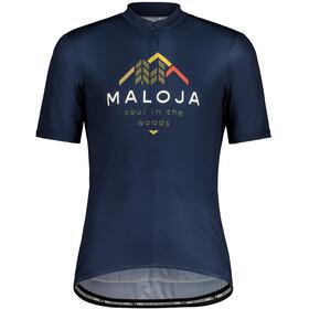 Maloja SchwarzerleM. 1/2 Maglietta da Ciclismo a Maniche Corte Uomo, blu